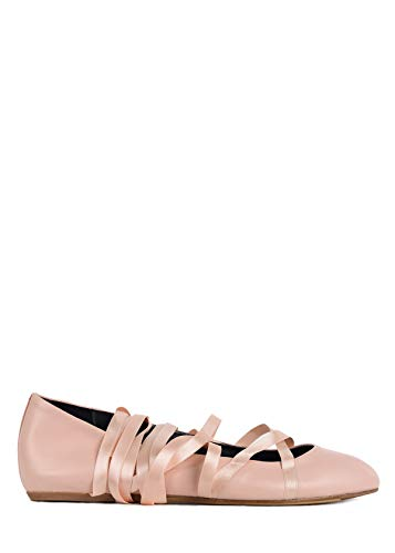 - LANVIN Women's Light Pink Leather Round Toe Laced Ballerina Flats 36/US6 RTL$580