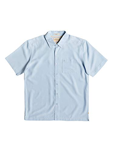 Shirt Up Quiksilver Button - Quiksilver Waterman Men's Clear Days 4 Button Down Shirt, Cerulean, XL