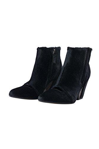 Womens Cutout Black Hair Ankle Boots Calf Cornejo Gila Maria Zero 4nZ1On