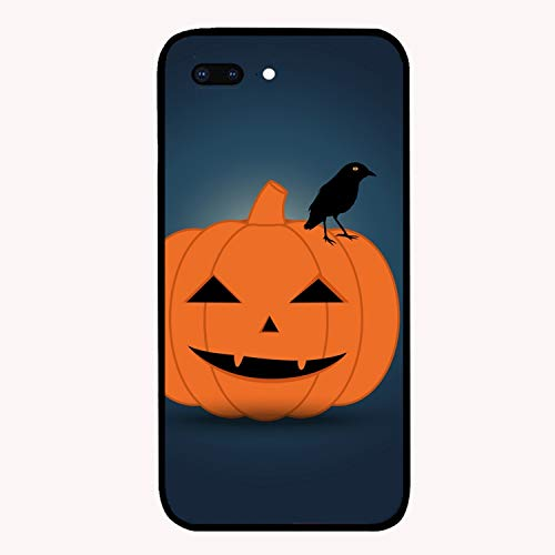 iPhone 7/8 Plus Case Ultra-Thin Shockproof Rubber Cover Compatible for iPhone 7/8 Plus Halloween Pumpkin