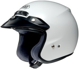 M2005 Snell Helmet - Shoei RJ PLATINUM R SERIES CRUISER White SIZE:XXL Open Face Motorcycle Helmet