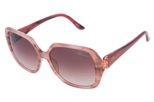 Blumarine Women Square Butterfly Sunglasses High-End Crystals Gradient Designer Eyewear SBM 561 - Blumarine Sunglasses