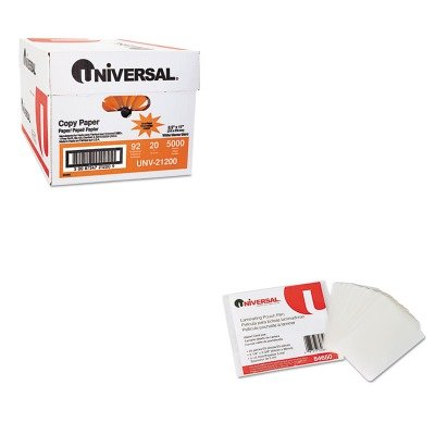 KITUNV21200UNV84650 - Value Kit - Universal Clear Laminating Pouches (UNV84650) and Universal Copy Paper (UNV21200)