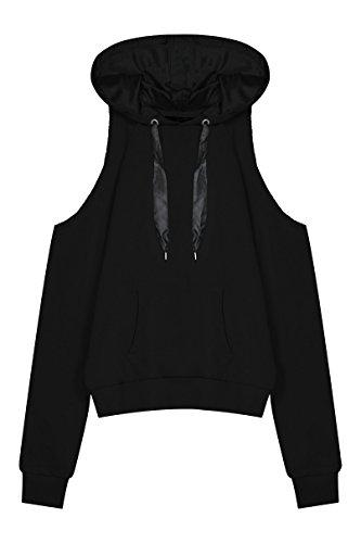 TALLY WEiJL - Sweat Noir à Epaules Ouvertes - Femme - Black