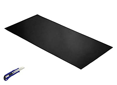Rubber Sheet Roll Black,Heavy Duty,39.4?x19.7?x0.059?, Gaskets DIY Material, Supports, Leveling, Sealing, Bumpers, Protection, Abrasion, Flooring