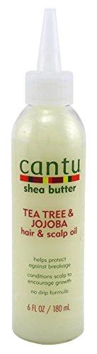 (Cantu Shea Butter Tea Tree & Jojoba Hair & Scalp Oil 6 Ounce (180ml) (2 Pack))