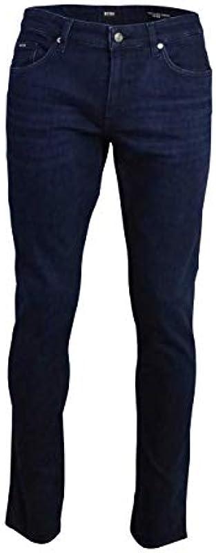 Boss Business Slim Fit dżinsy DELEWARE3 Cashmere-Stretch Used ciemnoniebieskie, kolor: grantowy , rozmiar: 32W / 32L: Odzież