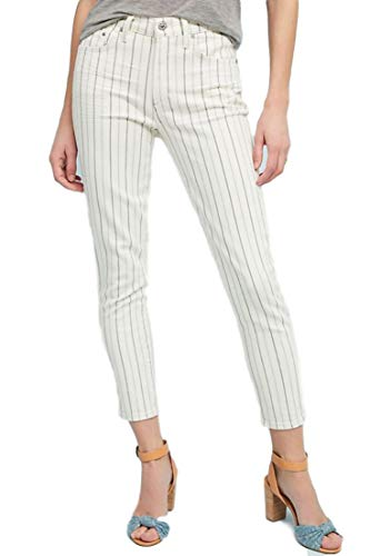 (Citizens of Humanity Rocket Pinstriped High Rise Skinny Off White Stretch Jeans (29))