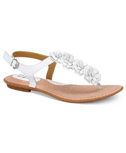 Born Concepts Women's Ramey Flat Thong Sandals in White S...