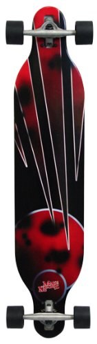 Made in Mars Red Planet Drop Through Longboard Skateboard, 41-Inch