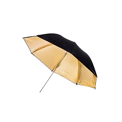 Fovitec - 1x 40 inch Gold Photography & Video Reflector Umbrella - [Easy Set-up][Lightweight][Cast-Iron][Collapsible][Durable Nylon] by Fovitec