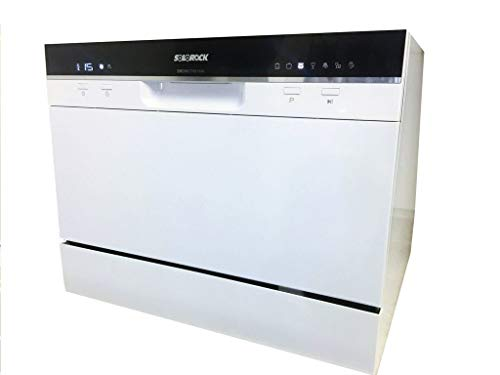 SOLOROCK 6 Settings Countertop Dishwasher – White Color