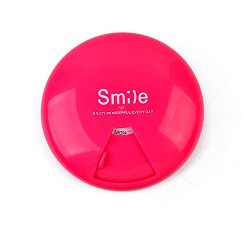 Lidahaotin Candy Solid Color Large Size Leichte Eine Woche Rotierende bewegliche Tablette Plastikaufbewahrungsbehälter Grün