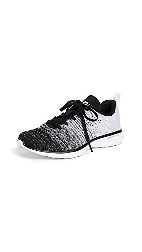 APL: Athletic Propulsion Labs Women's Techloom Pro Sneakers, Black/Heather Grey/White, 7.5 M US