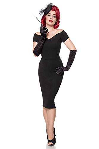 Black Women's Length Shoulder Dress Belsira q1IdR