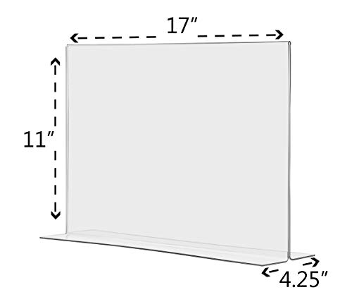 Marketing Holders Tabletop Sign Holder for Posters Advertisements Flyers Informational Sheet Signage Frames Countertop Lucite Picture Frame 17''W x 11''H Bottom Load Pack of 20 by Marketing Holders (Image #3)