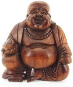 20cm Buddha aus Teakholz ca