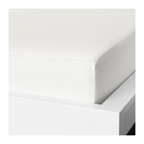 Ikea Fitted sheet, white ,Queen