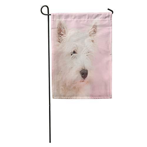 (Semtomn Garden Flag Pink Dog West Highland White Terrier Westie Westy Animal Baby Home Yard House Decor Barnner Outdoor Stand 12x18 Inches Flag)