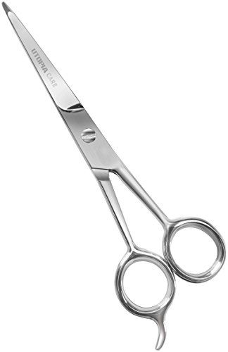 Professional Barber/Salon Razor Edge Hair Cutting Scissors / Shears (6.5-Inch) - Ice Tempered Stainless Steel Reinforced with Chromium to Resist Tarnish and Rust - by Utopia Care (Shears Ice)