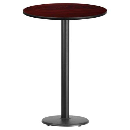 Flash Furniture 30'' Round Laminate Table Top with 18'' Round Bar Height Table Base