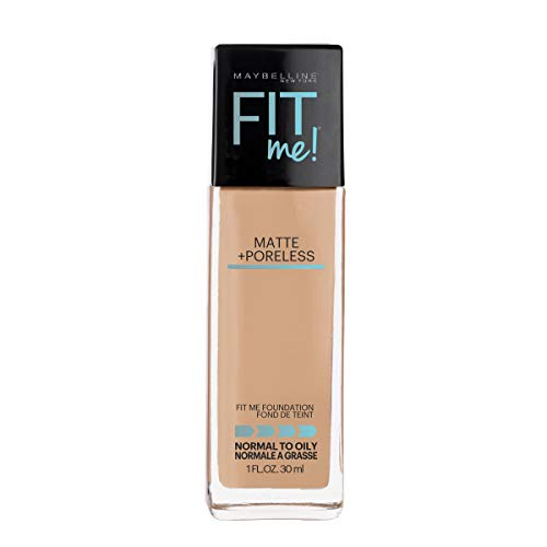 Maybelline Fit Me Matte + Poreless Liquid Foundation Makeup, Sun Beige, 1 fl. oz. Oil-Free Foundation (Best Loreal Foundation For Acne)