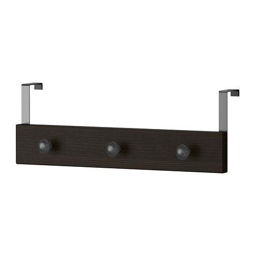 IKEA HEMNES - Suspensión de la puerta / pared, negro-marrón ...