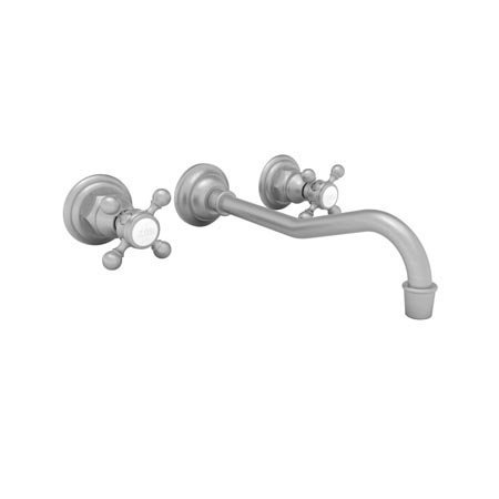Newport Brass 3-944 Chesterfield Double Handle Widespread Wall Mounted Lavatory, Satin Nickel (Wall 944 Kitchen Mounted)