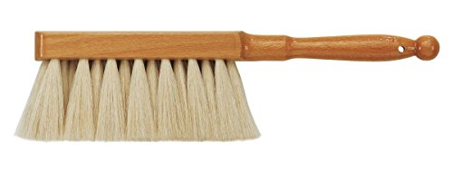 da Vinci Graphic Design Series 2485 Dusting Brush, White Goat Hair with Lacquered Wood Handle