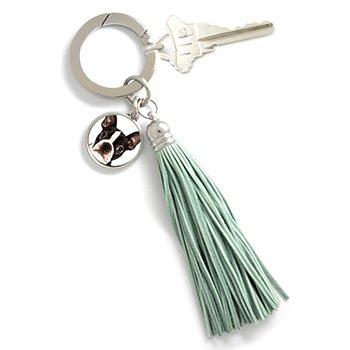 Photo Tassel Key Chain Blue