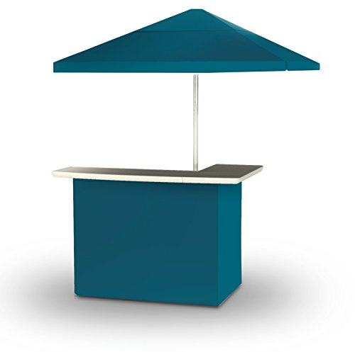 Best of Times 2001W1329 Solid SEA Blue Portable Bar and 8 ft