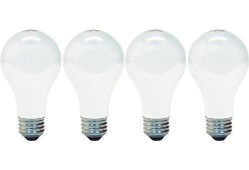 (GE Lighting 66247 Soft White 43-Watt, 620-Lumen A19 Light Bulb with Medium Base, 4-Pack)