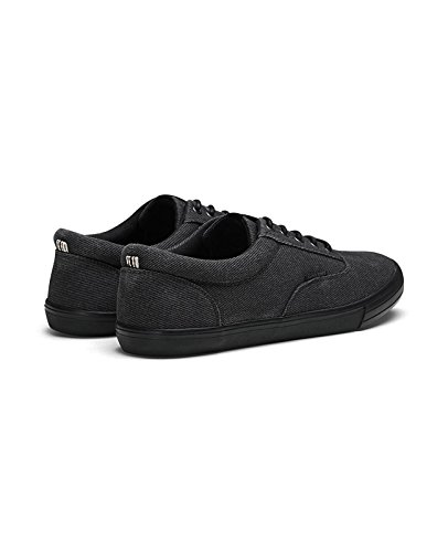 Low Schuhe Herren Anthracite Sneaker amp; JACK jfwVISION JONES TWILL Canvas Grau WASHED Top Eqzn8HF