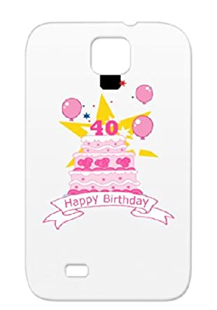 40 Year Old Birthday Cake TPU White No Forty 40th Holidays Occasions Celebration Birthdays