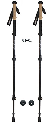Montem Ultralight Carbon Fiber Hiking / Walking / Trekking Poles - One Pair (2 Poles)