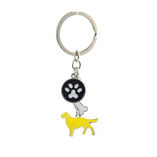 Key-ring Keychain,Cute Metal Small Dog Puppy Keychain Keyring Keyfob Car Bag Charm Dog Tag Chains Birthday Christmas Gift (Golden Retriever)