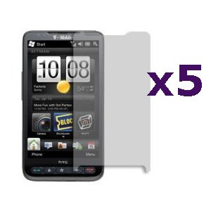 Screen Protector Shield for HTC HD2 (T-Mobile) - 5 Pack (Hd2 Protector)