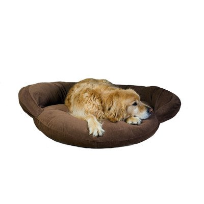 Velvet Microfiber Bolster Dog Bed Size: Small (35