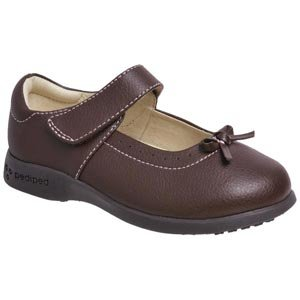 pediped Flex Isabella Mary Jane (Toddler/Little Kid),Chocolate Brown,29 EU (12-12.5 E US Little Kid)