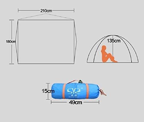 FXX Guo Outdoor Products Outdoor 3-4 People Tents, Wild, Camping, Camping, Camping, Beach, Sun, Light Breathable, Oxford Rain, Tende portatili,3-4 persone,Blu | Nuovo Prodotto  | Primo gruppo di clienti  d53ba5