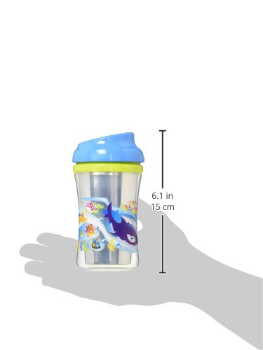 NUK Gerber Graduates Advance 2 Piece with Seal Zone Insulated Cup-Like Rim Sippy Cup, Boy Colors, 9 Oz 79084