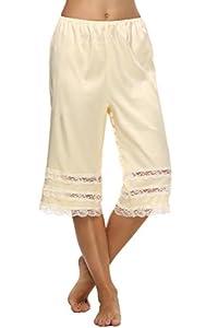 Goldenfox Women Lingerie Snip-it Satin Lace Pettipants Half Slips Bloomers S-XXL