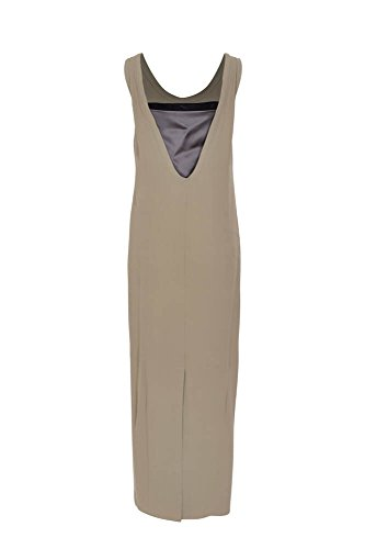 Khaki M Damen Seide Cucinelli Kleid Einfarbig IT Brunello qBp84tnYY