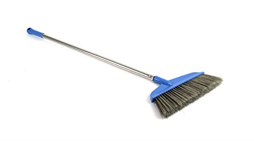 UPIT Stainless Handle Precision Angle Broom Easy for Brooming, Sweeping, Cleaning, Housekeeping