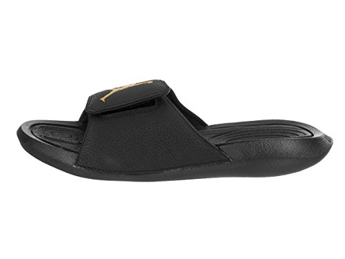 Nike Jordan Mens Idro 6 Sandali Di Cuoio Sintetico Nero / Oro Metallizzato
