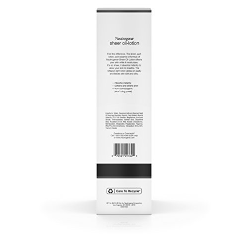 Neutrogena Moisturizing Sheer Body Oil-Lotion, Lightweight & Fast-Absorbing Sesame Oil Formula, 32 fl. oz by Neutrogena (Image #3)