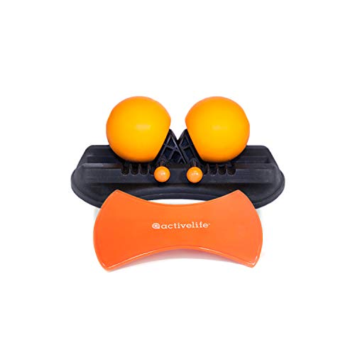 Highballer Twin Massage Balls with Mounting Pad - Adjustable Massage Balls Targets Trigger Points and Self-Myofascial Release (SMR) on Head Neck Shoulders Arms Back Hip Thighs & Legs