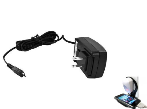 Blackberry OEM House AC Wall Power Adapter Home Travel Charger for Blackberry Bold 9700 / 9780, Pearl 3G 9100 9130, Bold 9930, Style 9670, Bold 9900 4G, Torch 9860 9850, Torch 9800 9810, Curve 9350 9360 9370 (Comes with Wall Charger Holder)