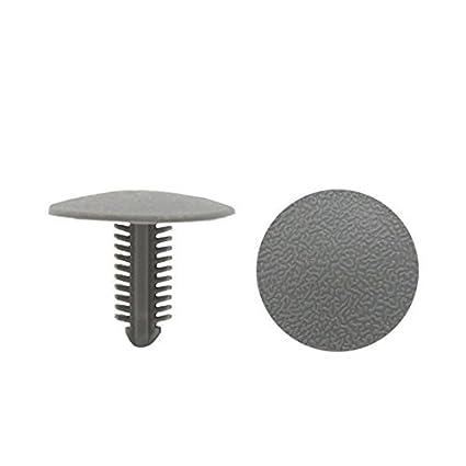 eDealMax 40Pcs gris tipo de inserción de la alfombra de barro colgajos Sujetador de retención parachoques