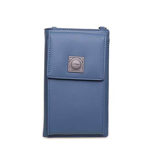 Phone Women Slots Cell Bag Wallet 2 Kukoo Crossbody Blue Navy Purse Card with for Small Credit qx7vvIwCF
